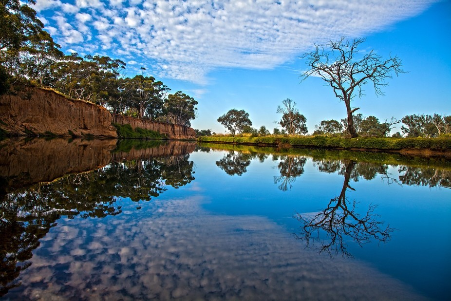 I visited this location 9 times before I was happy with the clouds and reflections. On the Werrib...