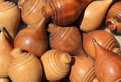 Wood Spinning Tops