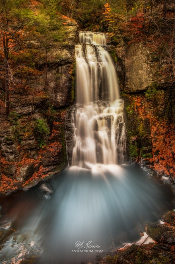 Long Exposure shot of the Bushkill Falls, Pennsylvania