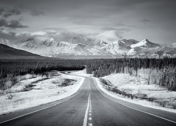 Yukon, Canada by fcornish - Black And White Mountain Peaks Photo Contest