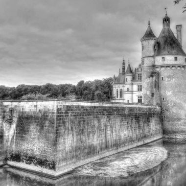 "Chateau De Chenonceau, (B & W),  Loire Valley, The ""France"" Collecton"