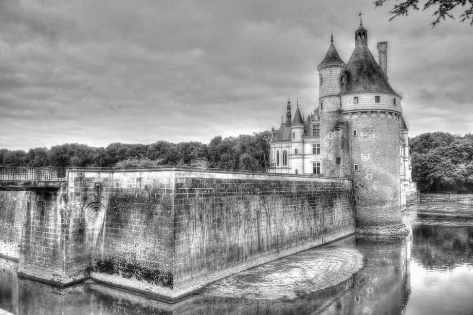 "Chateau De Chenonceau, (B & W),  Loire Valley, The ""France"" Collecton"