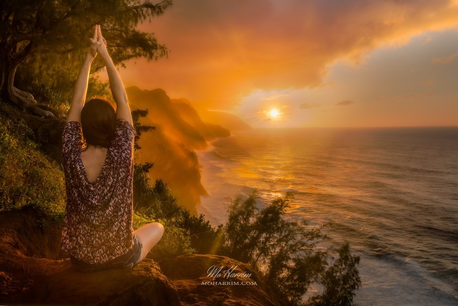 Yoga at the peaks of Kauai, Hawaii