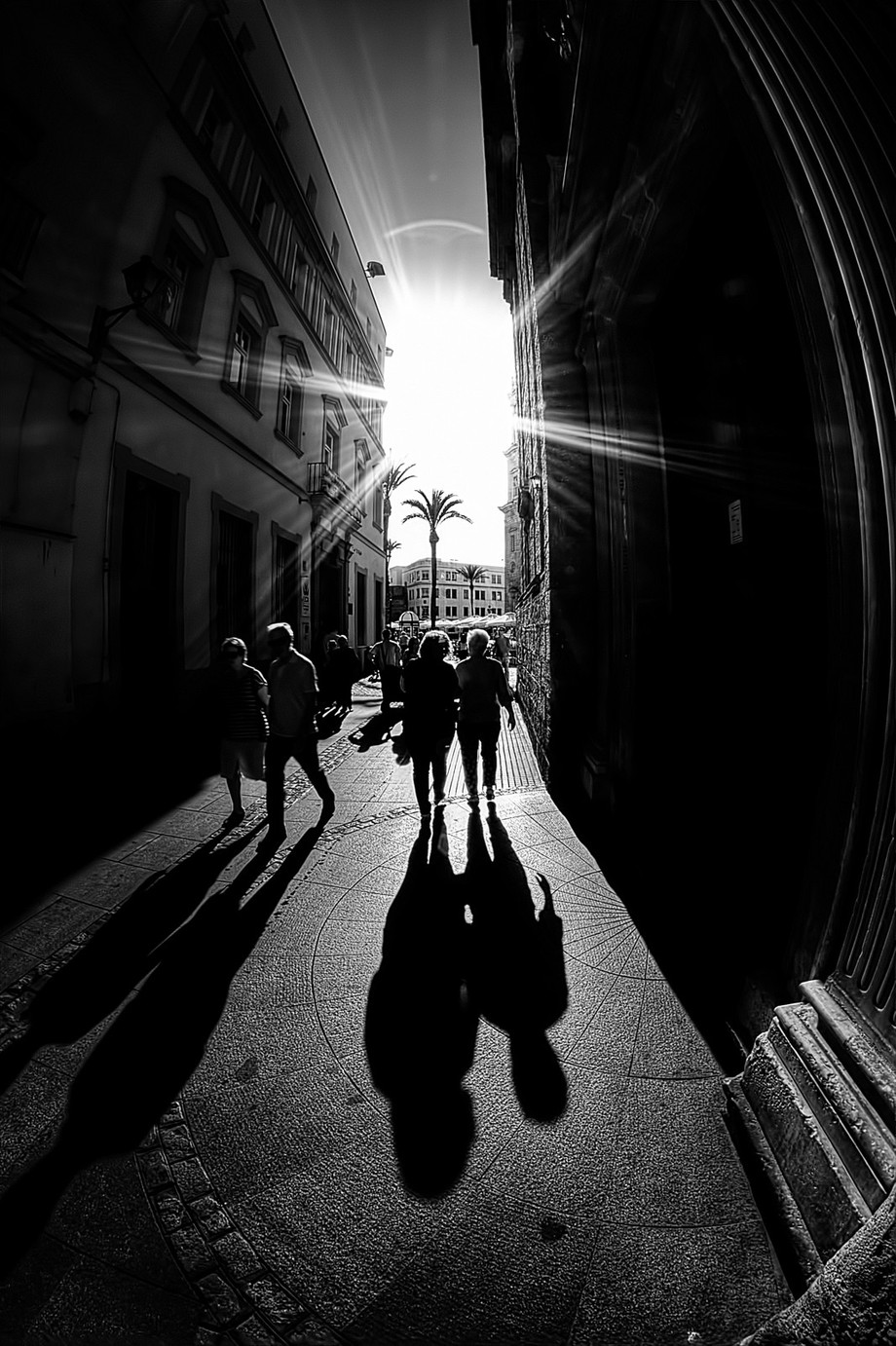 Long Shadows by stephencandler - City Life In Black And White Photo Contest