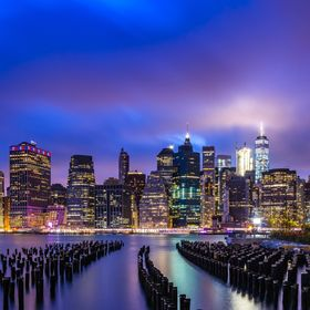 New York City lights up after a beautiful Saturday in the park (Brooklyn Bridge Park), cue Chicago.