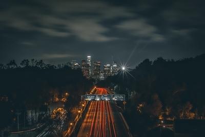 Downtown LA at midnight