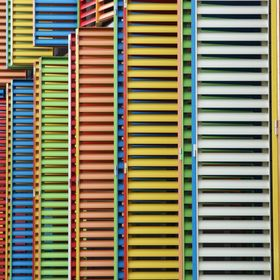 Multicoloured shutters