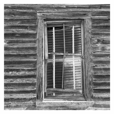 Rusted blinds B&W