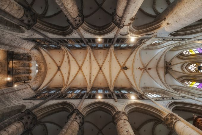 Interior St. Niklaas church in Gent, Belgium by amf250963 - High Ceilings Photo Contest