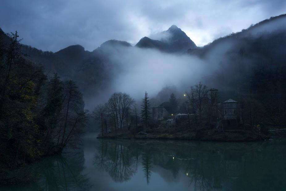 spooky atmosphere in Isola Santa, Toscana, Italy