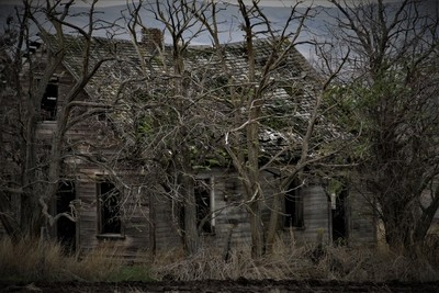 Haunted house on a hill