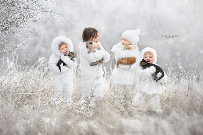 Snow Babies by NoelleMirabella - Kids And Pets Photo Contest