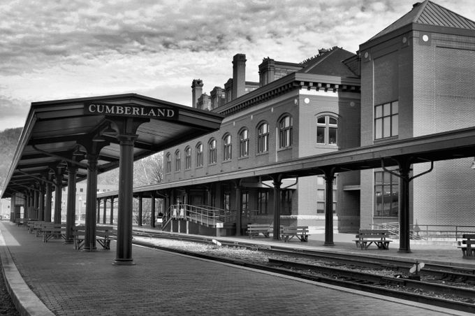 Train Station in Black and White by matthewsmarsh - Public Transport Hubs Photo Contest