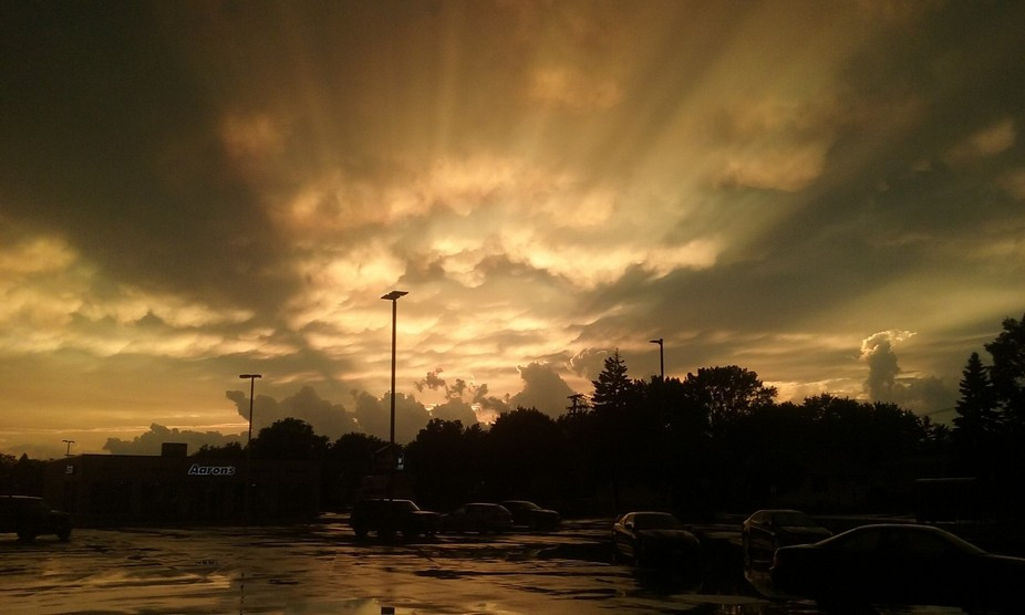 Amazing sunset, after powerful thunderstorm.