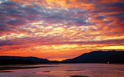 Sunset on Big Bear Lake