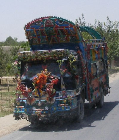 "A ""Jingle Truck"" in southern Afghanistan"