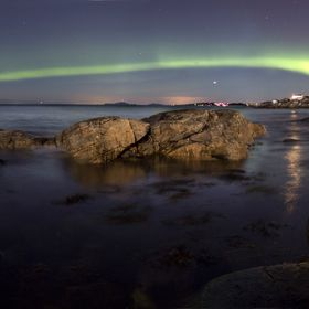 Northern lights above southern Norway.
