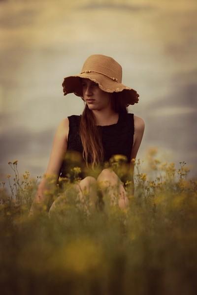 Straw hat beauty