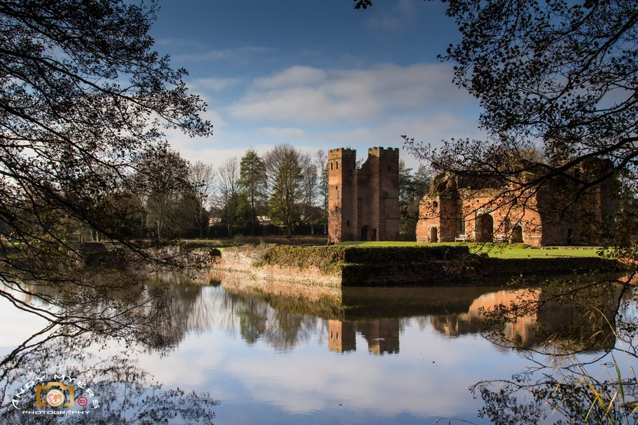 Kirby Muxloe Castle,Leicestershire,England  This is a moated,ruined Castle from the 16rh Century