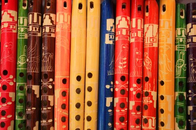 Colorful Wooden Flutes
