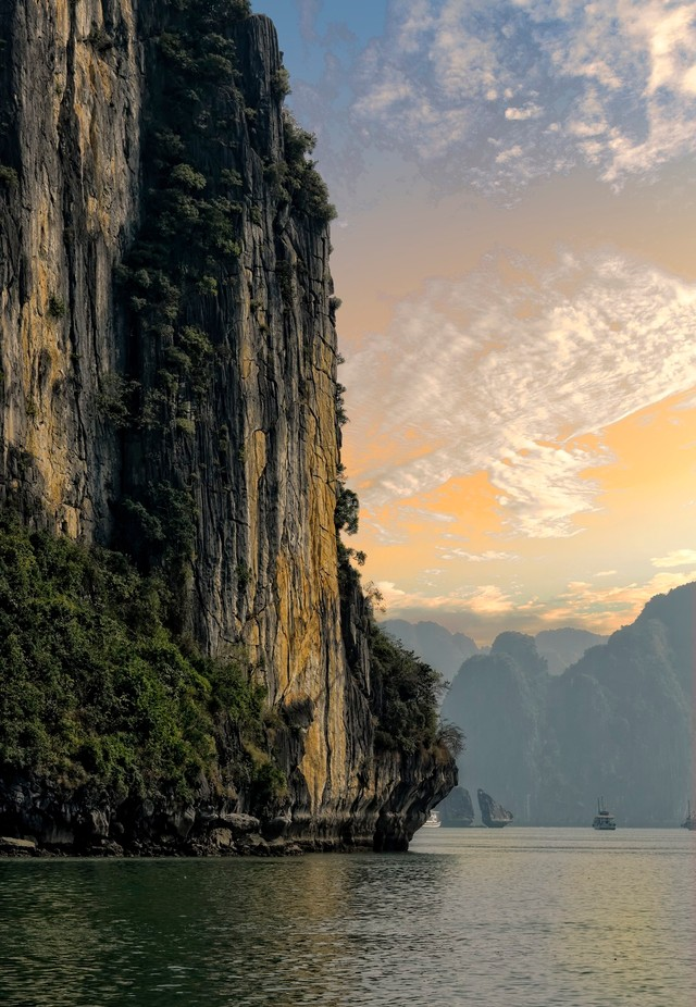 Evening light at Halong Bay by ChristerW - Spectacular Cliffs Photo Contest