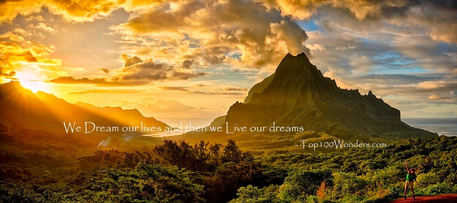 We Dream our lives and then we Live our dreams - Top100Wonders.com — with Dilek Emirlioglu and ...