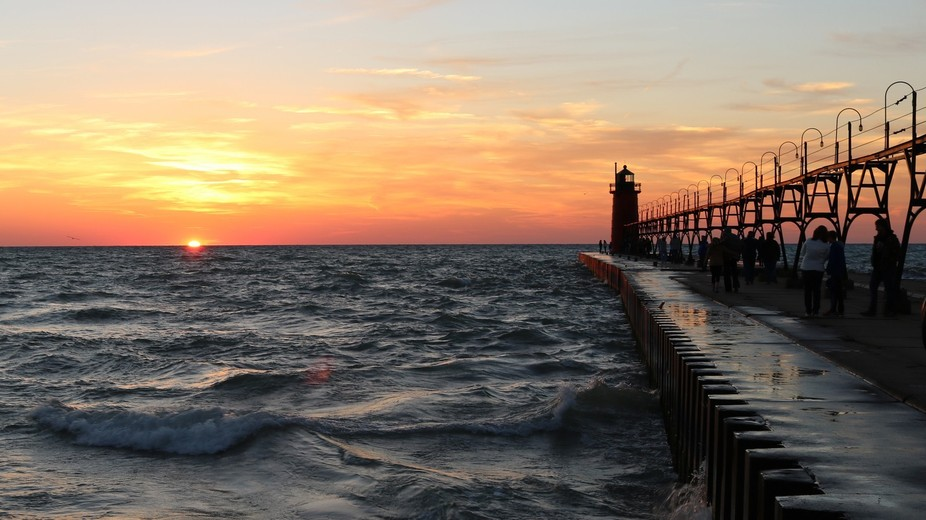 This is the South Haven Lighthouse on Lake Michigan. My favorite place to take a drive to see the...