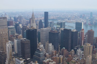Manhattan as seen from Empire State Building, NY