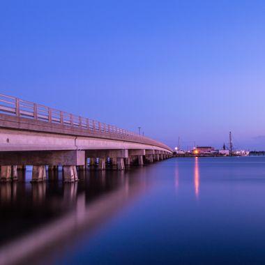 Long exposure of the bridges in my home town of Swansboro North Carolina.