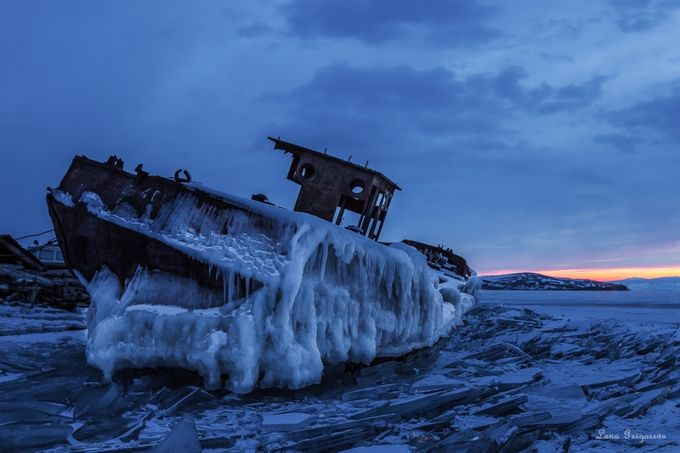 Old Ship by LanaGrigoreva - The Blue Hour Photo Contest