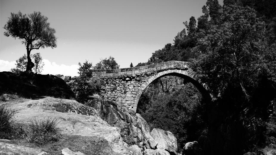 Mizarela Bridge is a medieval bridge that crosses the Rio Rabagão, between the civil parish of R...