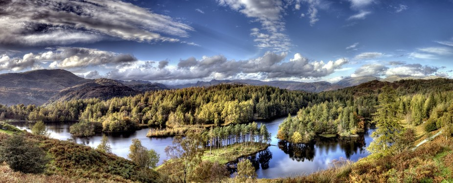 A HDR composition of 90 photos at Tarn Hows.