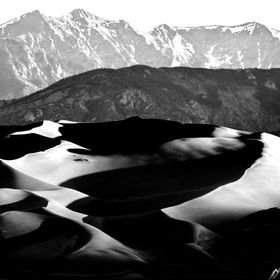 Great Sand Dunes cast shadows at sunrise on a landscape that changes and changes