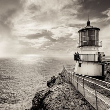 North of San Fransisco is the Point Reyes Lighthouse, in use since 1870. Point Reyes is the windiest and foggiest on the Pacific coast. The Point is very isolated and made for a great country road trip.