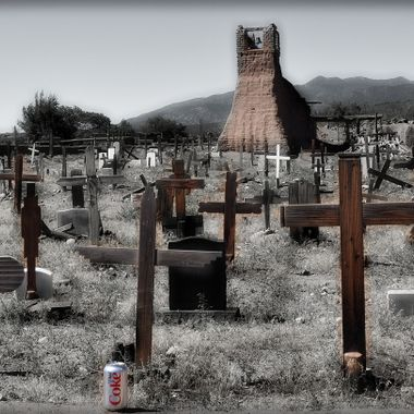 A wonderful graveyard located outside Santa Fe New Mexico