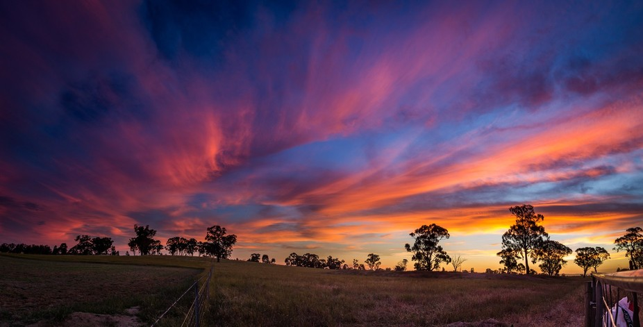 One of the Amazing Sunsets over the Farm back home.