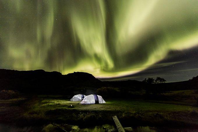 Aurora campsite by paaluglefisklund - Semitransparent Photo Contest