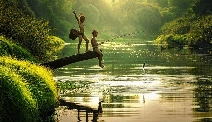 Joyful Catch  by dawnvandoorn - Kids And Water Photo Contest