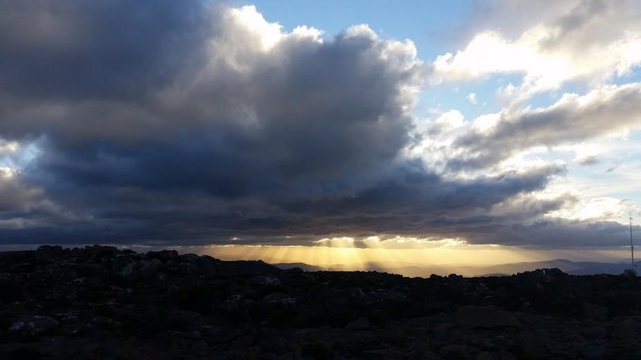 Rays from gods fingertips. Mt Wellington