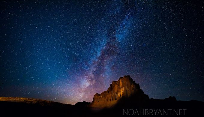 Courthouse Towers, Arches National Park with Milky Way by noahbryant - The Milky Way Photo Contest