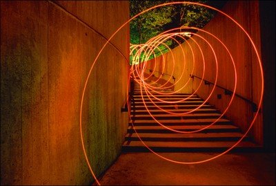 SPIRAL STAIRCASE Timelight Picture Study with Highway Flare
