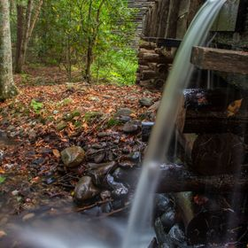 Cades Cove man made fall behind the Grist Mill