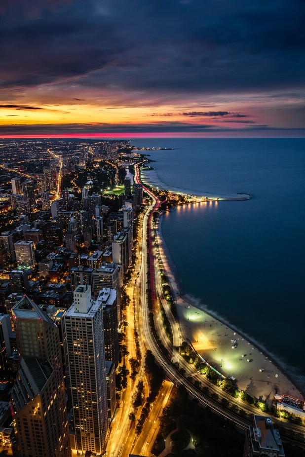 Gold Coast - Chicago, IL by maxencelefort - City In The Night Photo Contest