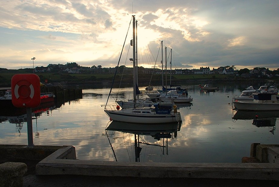 Isle of Whithorn Harbour Sunset