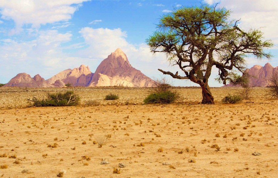 Spitzkoppe in Namibia. Very dry at the moment but the colours of nature do not fail.