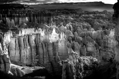 Bryce Canyon Lightshow B+W 2