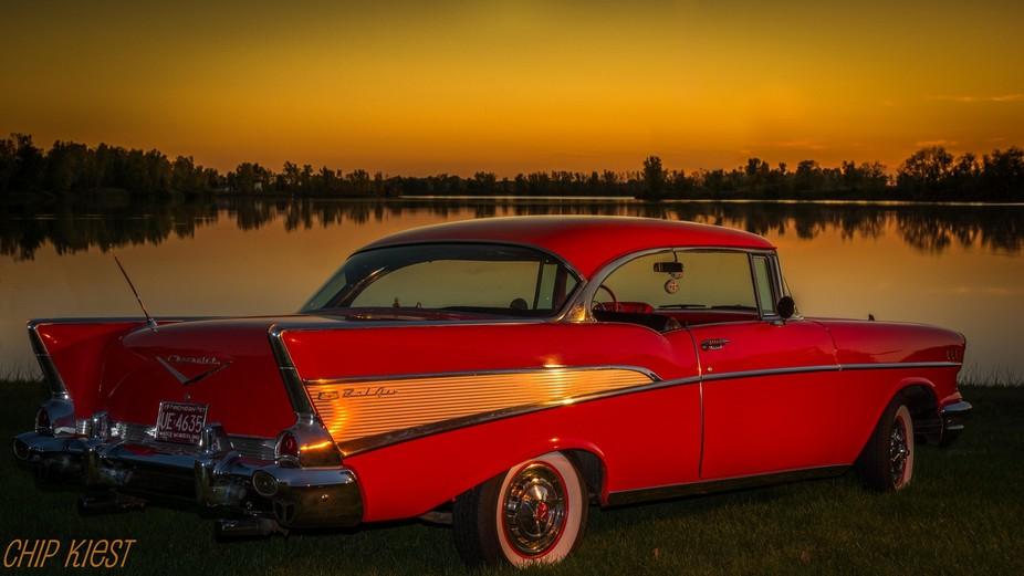 Sunset on lake Madison,Adrian MI