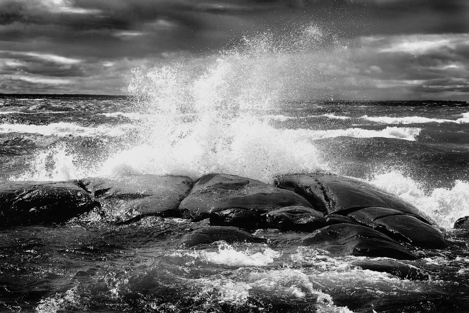 Lake Nipissing, North Bay, Ontario.  Storm.