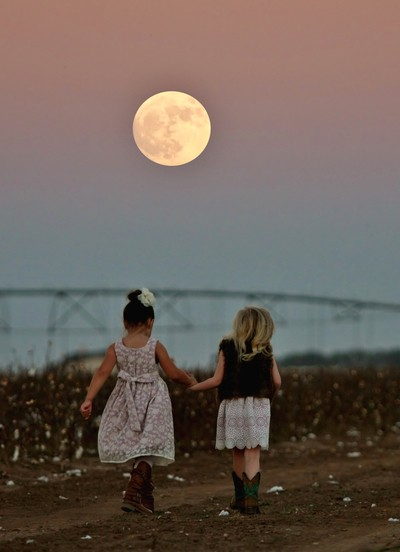 Walking in moonlight