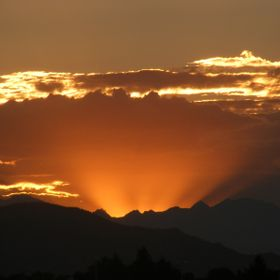 Back in July 2012. Ever since I haven't seen a more magnificent sunset over the Rockies.